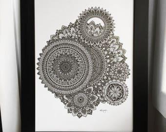 Mandala wall art- Mandala print - Wall decor