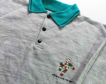 Rare Original Vintage Italia 1990 World Cup - Cotton Sweat Shirt / Jumper