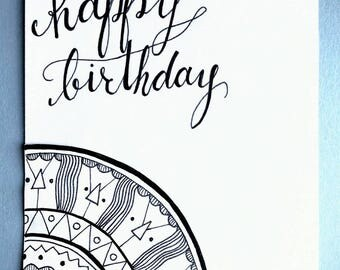"""Patterned """"Happy Birthday"""" Greeting Card"""