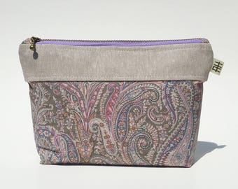 Liberty of London Linen Pouch for Cosmetics, Travel, Cell Phone, Wallet, and more!
