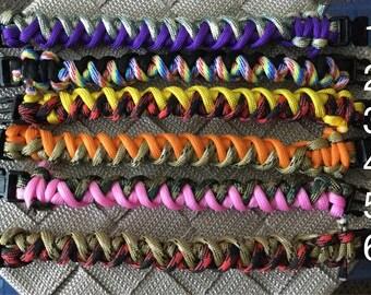 Womens Paracord Round Bracelets