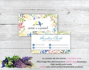 Chloe and Isabel Business Card, Custom Chloe and Isabel Card, Fast Free Personalization, Chloe and Isabel, Printable Business Card CL81