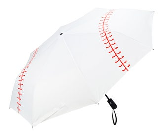 New Baseball Umbrella Collapsible Travel Tri-fold