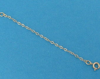 Necklace Extender Chain with Spring Ring Clasp - 14k Yellow Gold