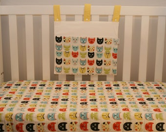cool cats quilt and cot pocket set