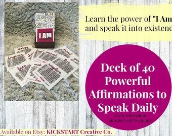 Affirmation Cards - Inspirational Cards - Bible Teaching - Self-Love - Scripture - Positive Affirmation - Mantra - Encouragement