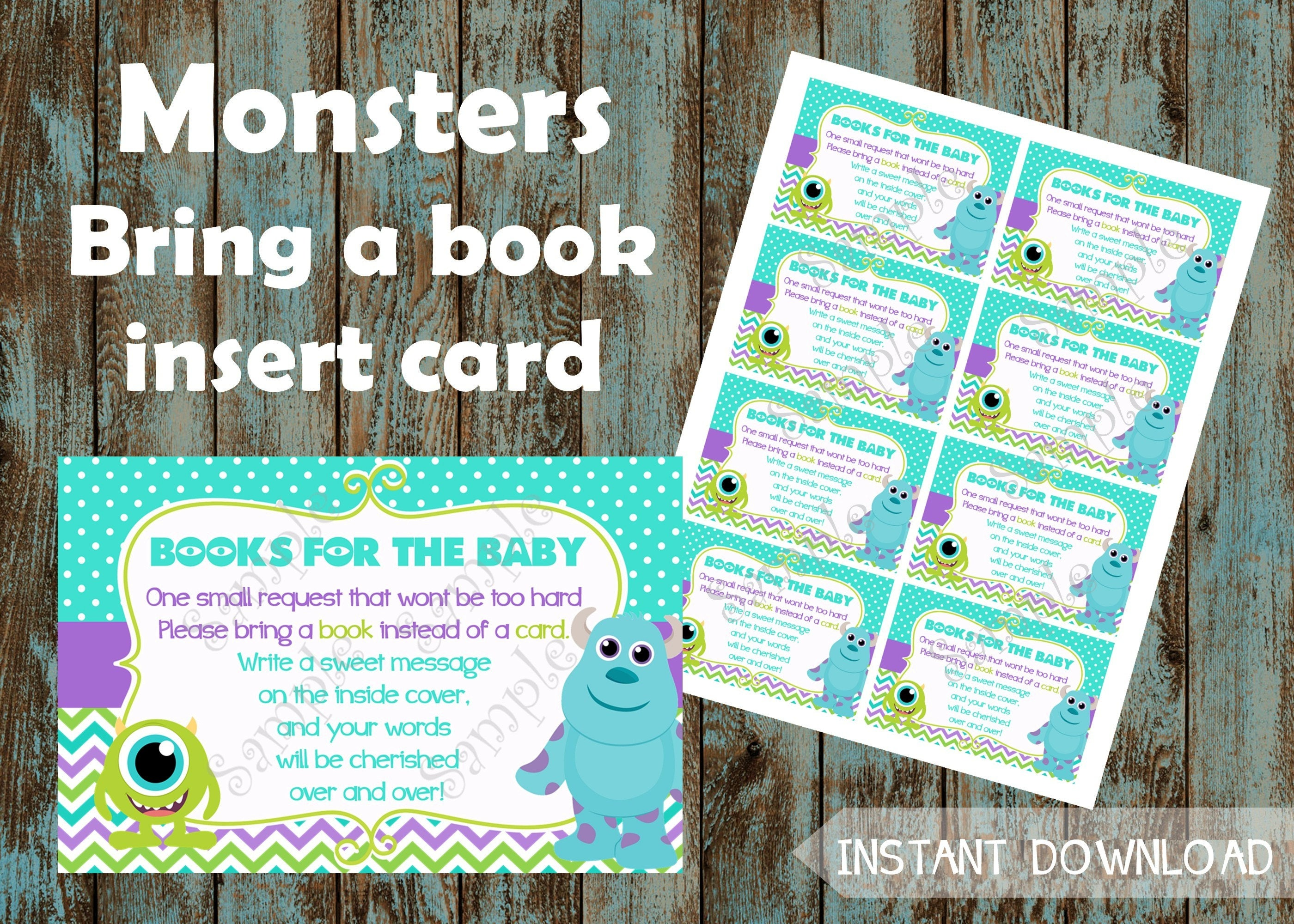 Monsters Inc Books for baby Monsters Inc Insert Card Books