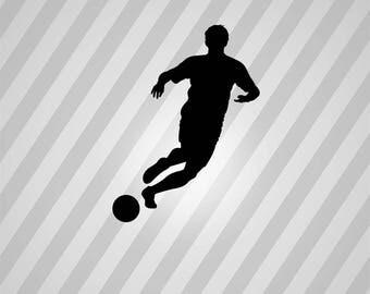 Soccer Player Silhouette Player Soccer - Svg Dxf Eps Silhouette Rld Pdf Png AI Files Digital Cut Vector File Svg File Cricut Laser Cut