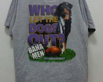 Rare!! Hip Hop Rap Shirt Who Let The Dog Out! Bahamen Tour.