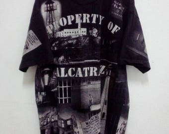 Discount 45%!! USD28 Include Shipping!! Property Of Alcatraz All Over Print T Shirt