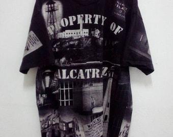 Propert Of Alcatraz All Over Print T Shirt