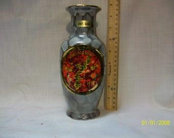 "Listing 195 is A Vase "" The Art Chokin"" Okinawa 12-6015"