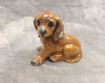Vintage German Rosenthal porcelaine puppy dog figurine circa 1950