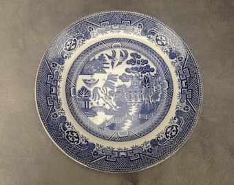 Antique Willow pattern plate from Adams of Staffordshire - late 1800s