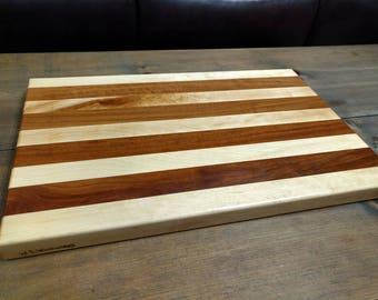Cutting board//ready to ship//gift//wedding//kitchen//wood cutting board//edge grain//bachelor//bridesmaid//knife