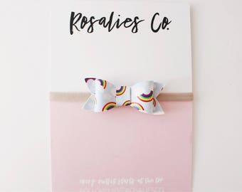 RAINBOW - Baby Headbands, Baby girl headbands, Baby bows, Newborn headbands, Nylon Headbands, Baby girl valentines day outfit