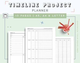 Project Planner Inserts | Student Planner | Schedule Planner | Productivity Planner | Assignment Tracker | Track Deadlines and Progress