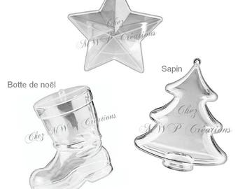 Shape acrylic pvc divisible/2parties - Christmas Decorations - (several models available)