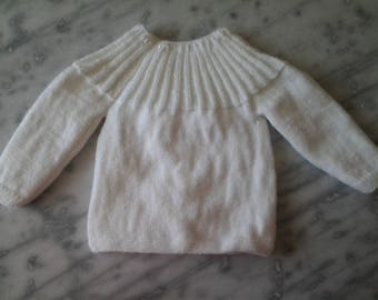 White knitted jacket 3 months baby