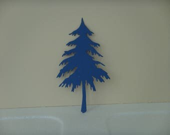 Pine tree cutout Navy for scrapbooking and card