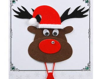 Christmas card / new year's Eve reindeer head