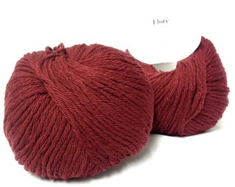 5 balls /bordeaux/ wool and cashmere made in FRANCE