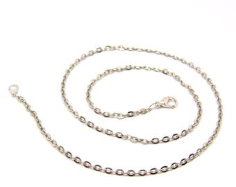 Necklace 50 cm flat - silver plated chain