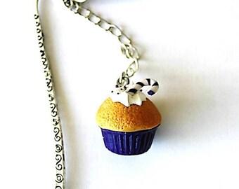 Bookmark handmade fimo cupkake