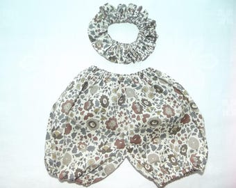 All Bloomer and collar in LIBERTY of Anjo Brown pierrot doll 36 cm