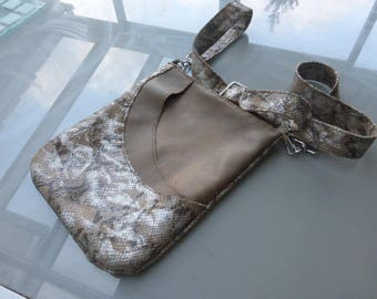 Shoulder bag Tan Leather and python effect