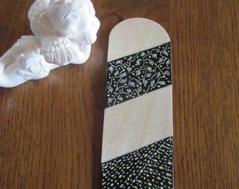 Black Birch wood bookmark