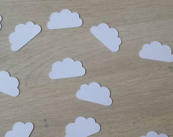 set of 50 cloud table confetti