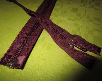 separable Burgundy nylon closure