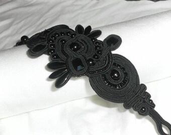 Black braid and Swarovski bracelet