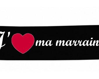 Headbands black message baby I love my godmother