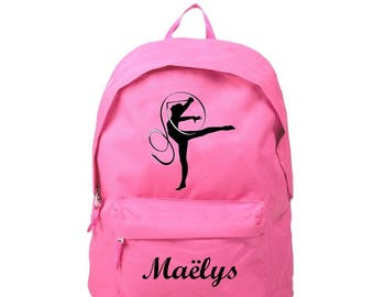 Backpack pink G R S personalized with name