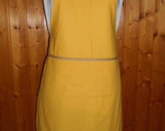 Apron adult with name - cotton - choose colors