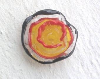 "Glass Lampwork bead ""Fleur Tango"""
