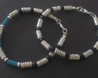 Pair of very metal bracelets