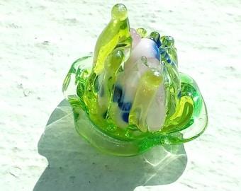 An exotic flower - handmade Lampwork Glass