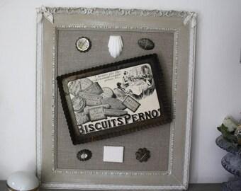 Frame retro home decor on cookies