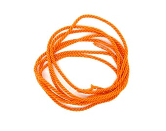 Cotton cord, braided, orange