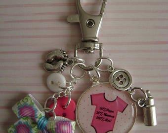 Birthstone girl keychain