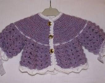 Purple and white bra