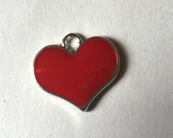 Red enamel heart