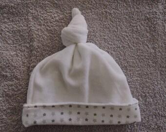 Hat in white velvet 0 / 3 months