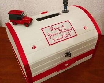 wooden money box urn christening wedding birthday communion chest any theme