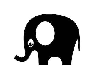 "Stickers decal vinyl ""Elephant"""