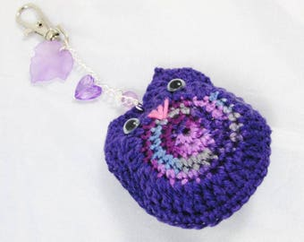 Amigurumi OWL purple/gradient - Ref PCHG11 key holder
