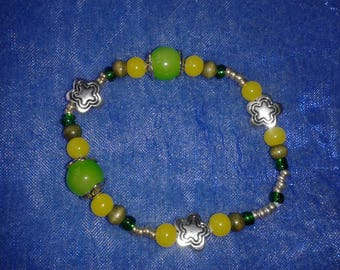 """Bracelet """"walk in the Woods"""" (green and silver) 2"""